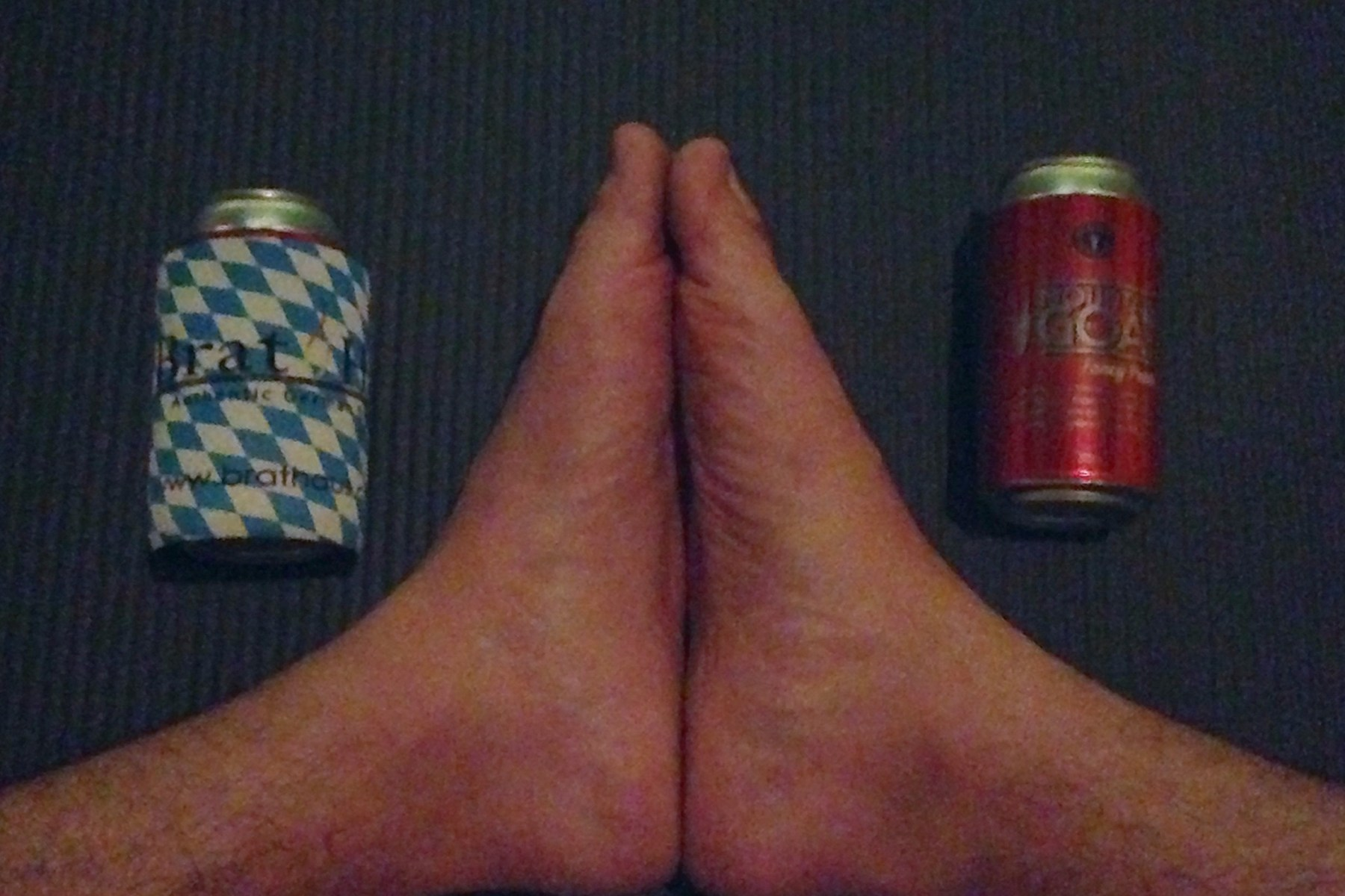 Yoga feet and yoga beer