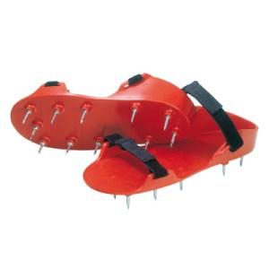 Spijkerzolen rood scherp klittenbandsluiting