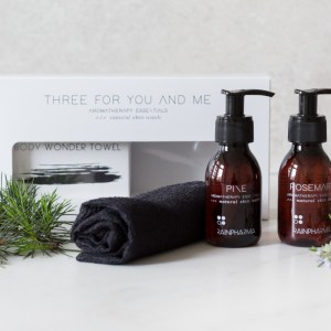 pine rosemary gift set rainpharma body wonder towel