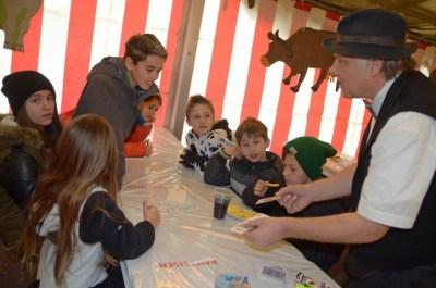 Kindernachmittag der Seegusler mit der Guuggenmusig Guggiläin aus Kerns und dem Zauberer Hörbi der Gaukler