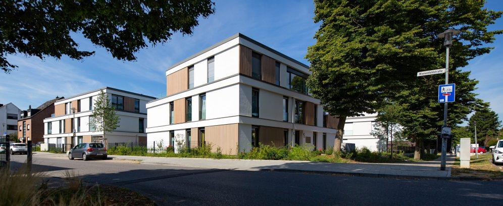 Schotes, Neubau, Fertigstellung, Gebäude, Architektur, Sonne, Karl Fegers Straße, ecke Bienenfeld