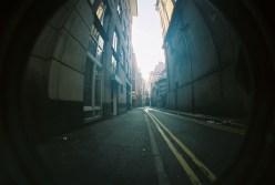Down an alley