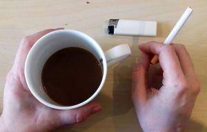 Rauchen in Schottland ist in Kneipen verboten.