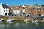 Crail ist einer pittoresken Fischerhaefen unserer Genussreise durch Schottland.