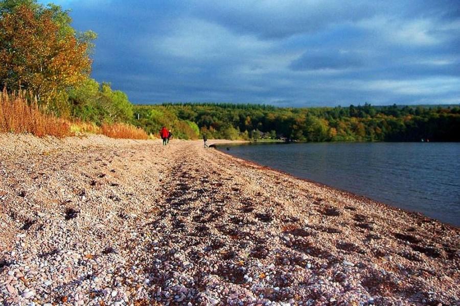 Der erste Teil des West Highland Ways fuehrt am legendaeren Loch Lomond entlang.