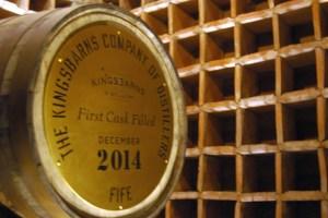 Das erste Whiskyfass der Kingsbarns Distillery wird ausgestellt und kann bei einer Whiskyreise durch Schottland besichtigt werden.