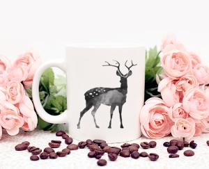 black deer mug