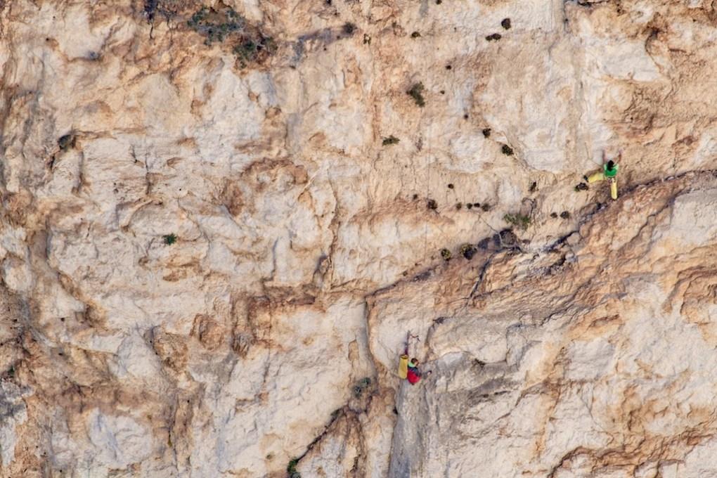Tobi im vermutlich namensgebenden Abschnitt der Route -2. Sl (C) Stefan Fritsche