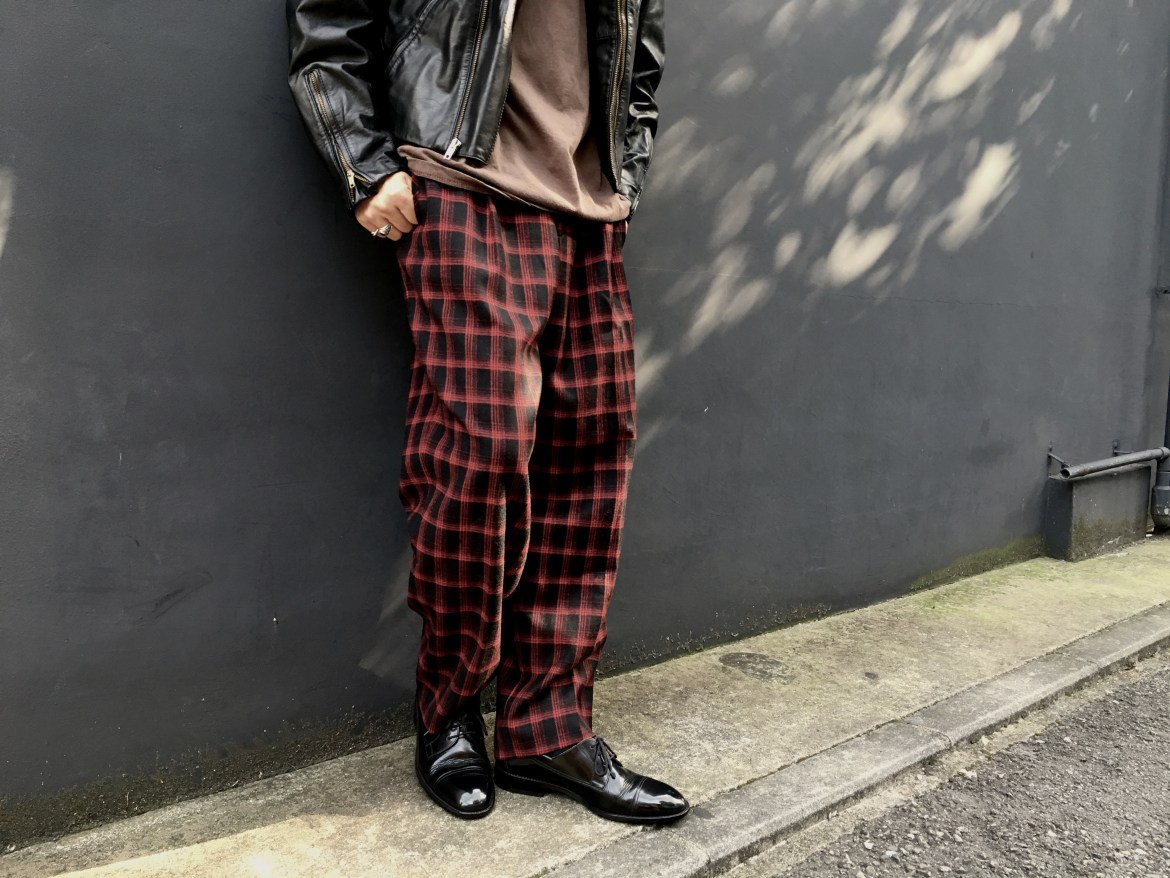Wool Check Pants Style