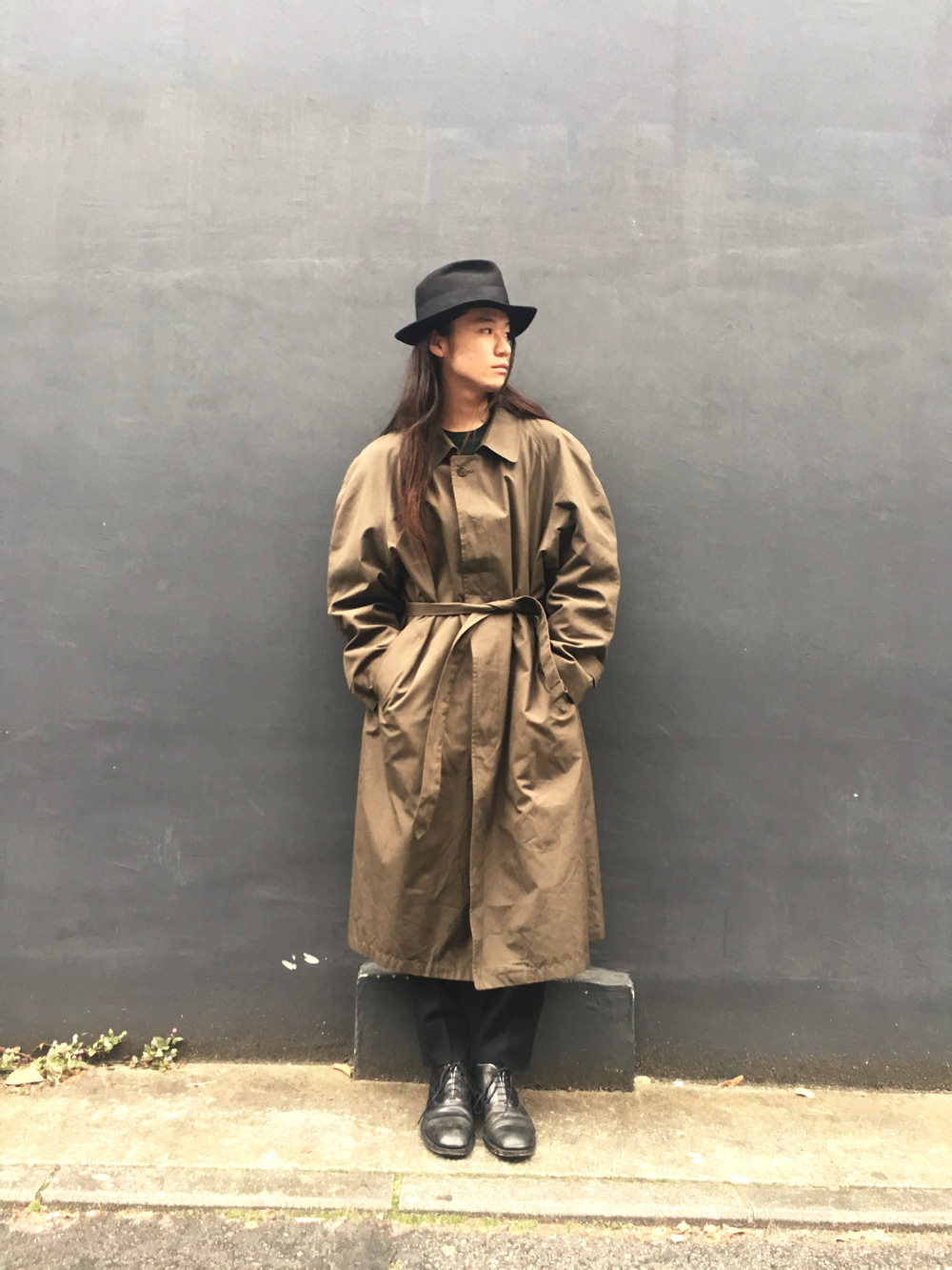"""Christian Dior"" Stand Fall Collar Coat"