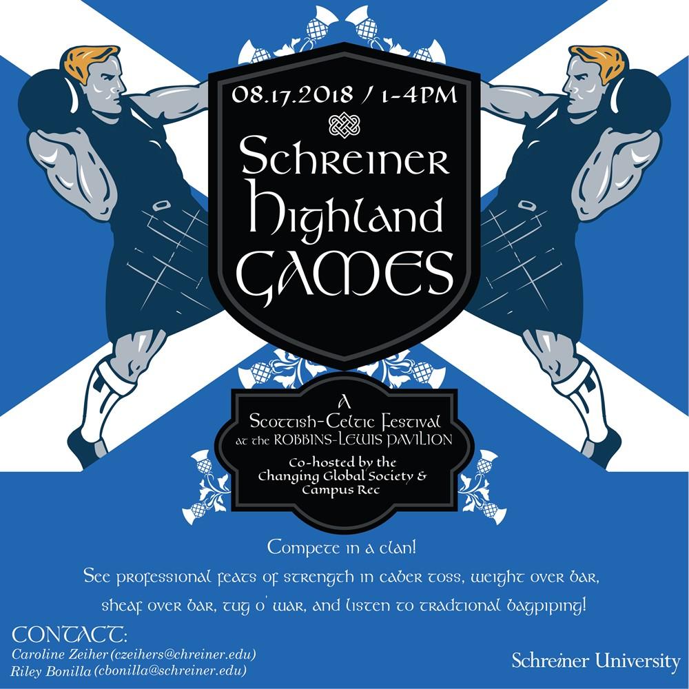 Schreiner Demos Scottish Highland Games on Campus