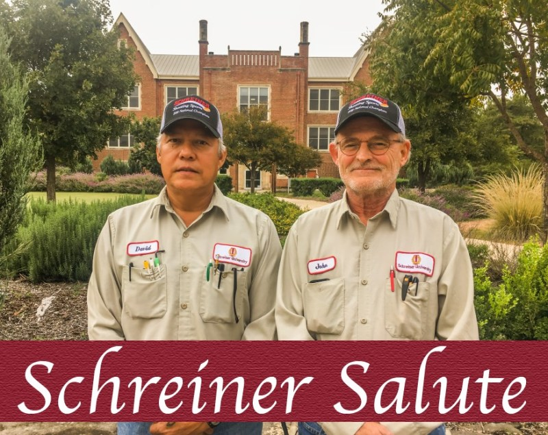 Schreiner Salute presented to David Ponce and John Price