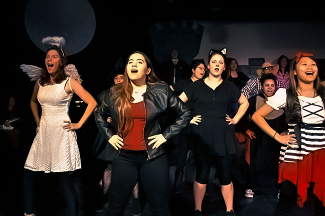 Choir Halloween Show On Stage