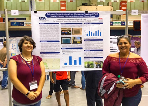 Poster Session at the UTSA College of Science Conference