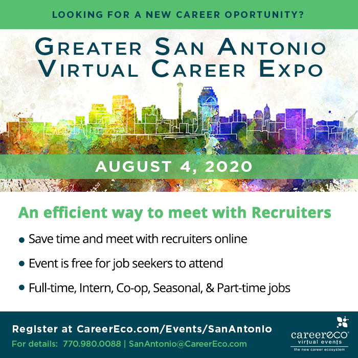 Greater San Antonio Virtual Career Expo Aug 2020