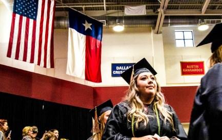 Schreiner Graduate Proudly Walks During Ceremony
