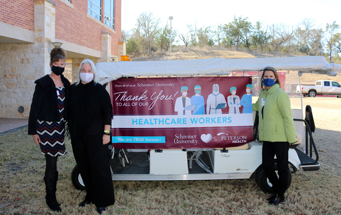 Schreiner University Honors Front-line Health Care Workers at Peterson Regional Medical Center