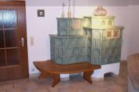 Ofenbank Eiche massiv, Sitzfläche gekehlt