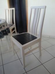 430 Stuhl in Esche weiß + Einlage in blau