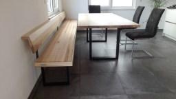 Sitzbank VARIMO Esche mit Stahlkufen schwarz (2)