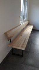 Sitzbank VARIMO Esche mit Stahlkufen schwarz (4)