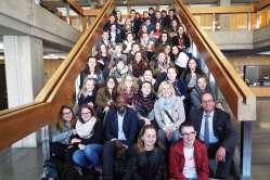 30.03.2017: Bürgermeister Karl-Heinz Ehrmann begrüßt die Partner aus Nîmes und Saint-Lô herzlich im Rathaus Aalen.