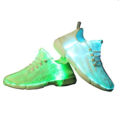 Idea Frames Fiber Optic Led Light Up Shoes for Men Women Flashing Trainers
