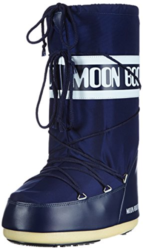 Tecnica Kinder Moon Boot Nylon Nero,  Outdoor SchneeStiefel,, Blau, 23/26 EU