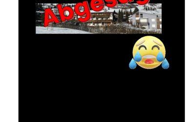 Absage Skilager