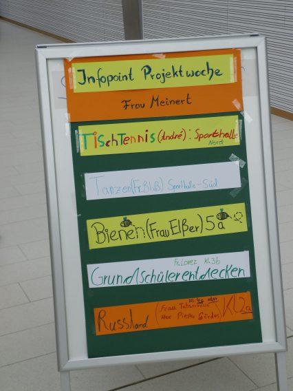 Infopoint Projektwoche