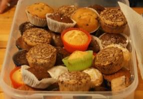 Auch Muffins werden am Waffeldienstag angeboten.