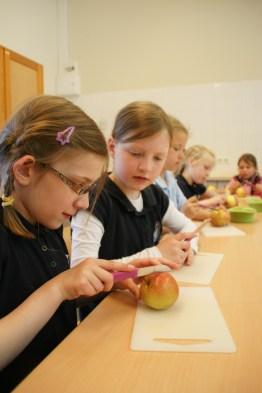 Die Ausstattung der Schulküche wurde vom Schuverein finanziert!