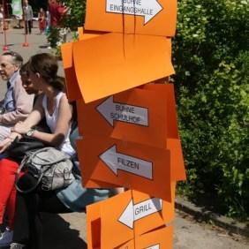 Die Wegweiser informieren die Besucher über das tolle Programm!