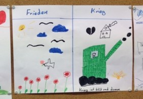 So stellen sich die Kinder den Frieden bzw. den Krieg vor.