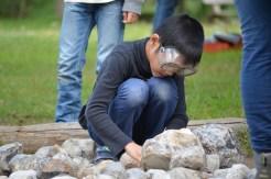 Die Bearbeitung der Steine hört sich leichter an als es war.