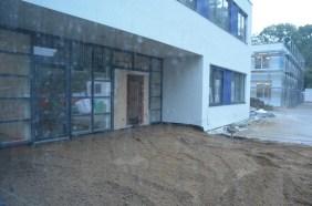 Der neue Eingang wird barrierefrei werden!