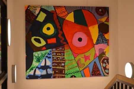 Im Rahmen der Picassoausstellung haben im vergangenen Jahr Kinder unserer Schule dieses Bild gestaltet.