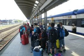 Auf dem Bahnhof in Westerland.
