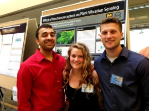 Dhru, Sam and Brett at the poster session for the Summer undergraduate research programme 2014