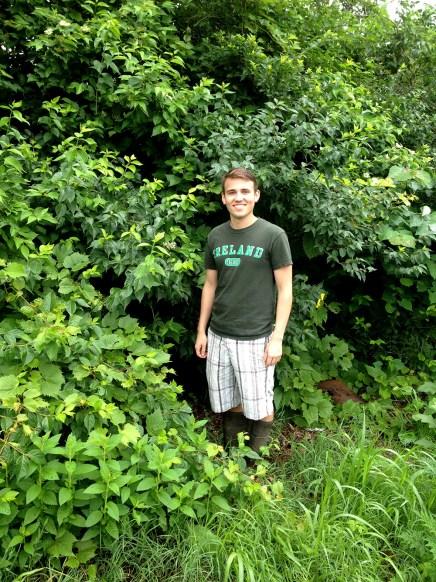 Ryan in the field