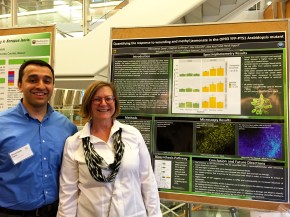 Dhru and Heidi at the poster session for the Spring undergraduate research programme (April 26, 2016)