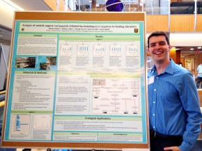Will at the poster session for the Spring undergraduate research programme (April 26, 2016)