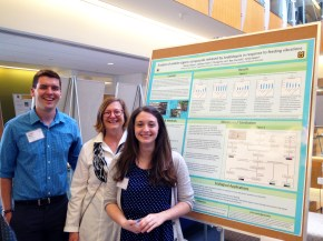 Will, Heidi and Nicole at the poster session for the Spring undergraduate research programme (April 26, 2016)