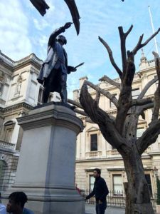 Sir Joshua Reynolds, Royal Academy of Arts, London with Ai Weiwei trees