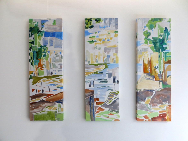 Bucht I / Bay I, Multipanel painting acrylic on canvas,