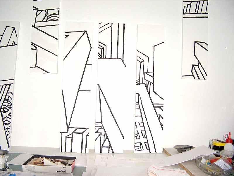 Acryl, Transportbehälter / Acrylic, Wood, transport case; Studio Situation