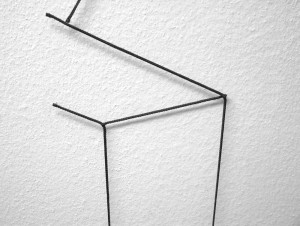 Schwarzes Seil, Nägel / Black string, nails