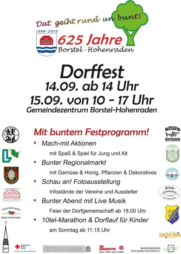 Plakat Borstel-Hohenraden Dorfjubiläum