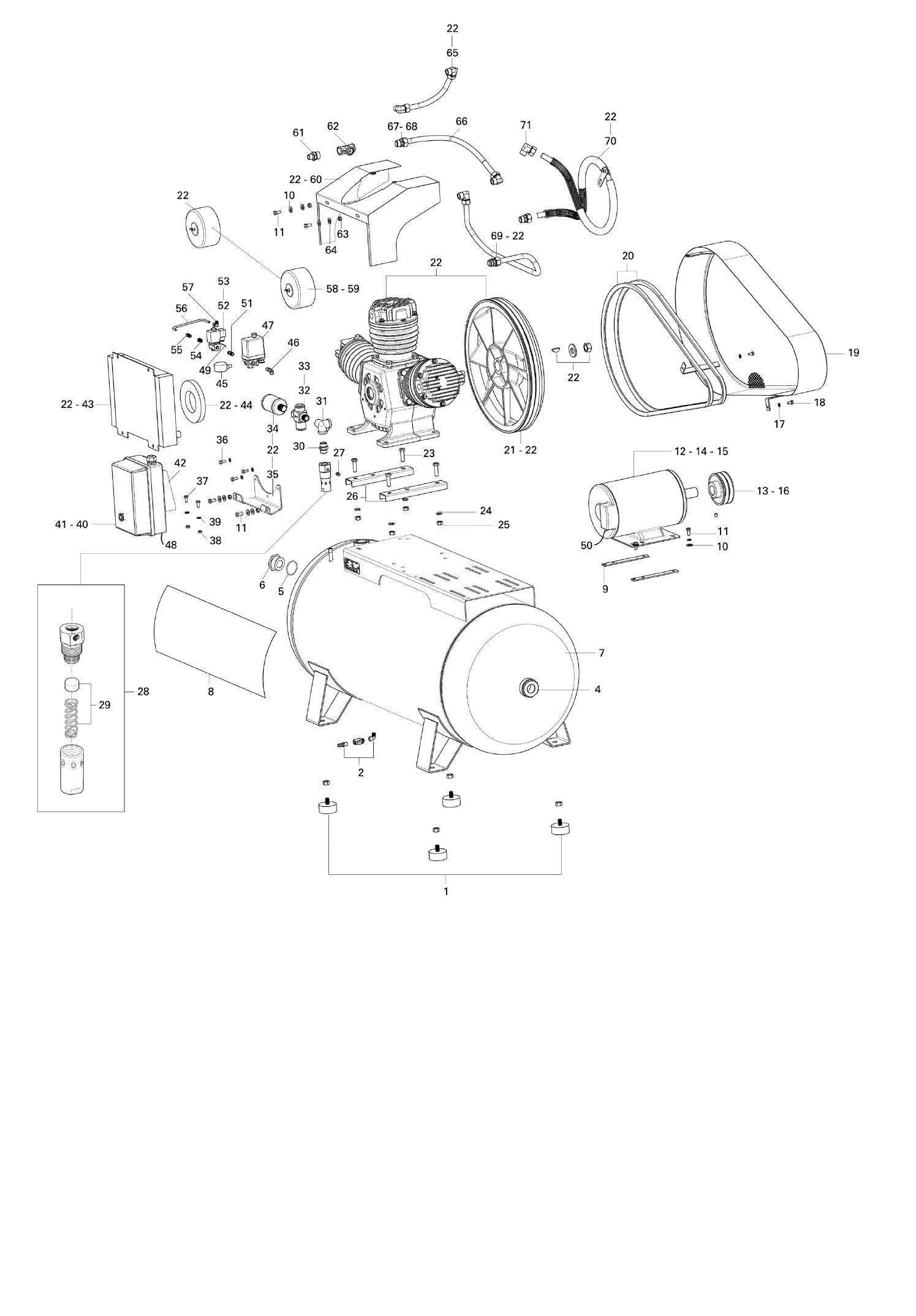Schulz Oilless Air Compressor Csw 60 420 15 Hp 60 Cfm