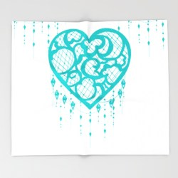 Dream Catcher Teal Blanket